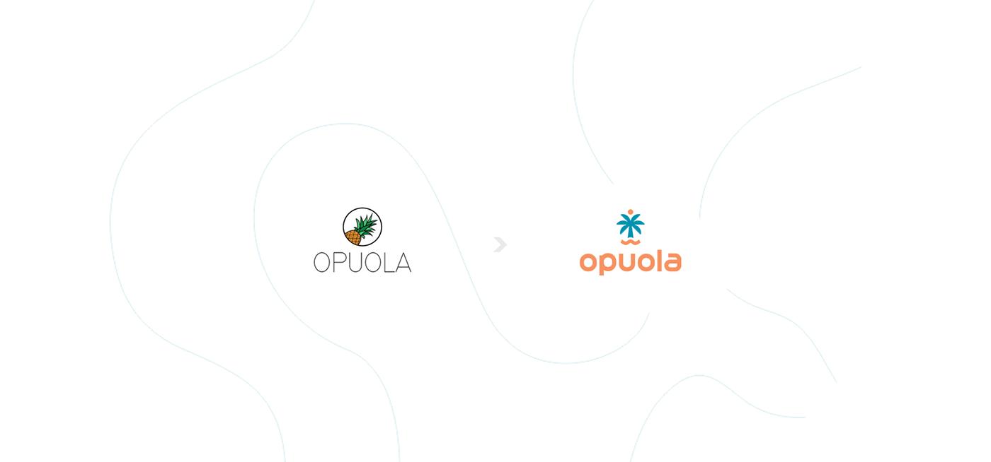 Opuola海滩启用新LOGO