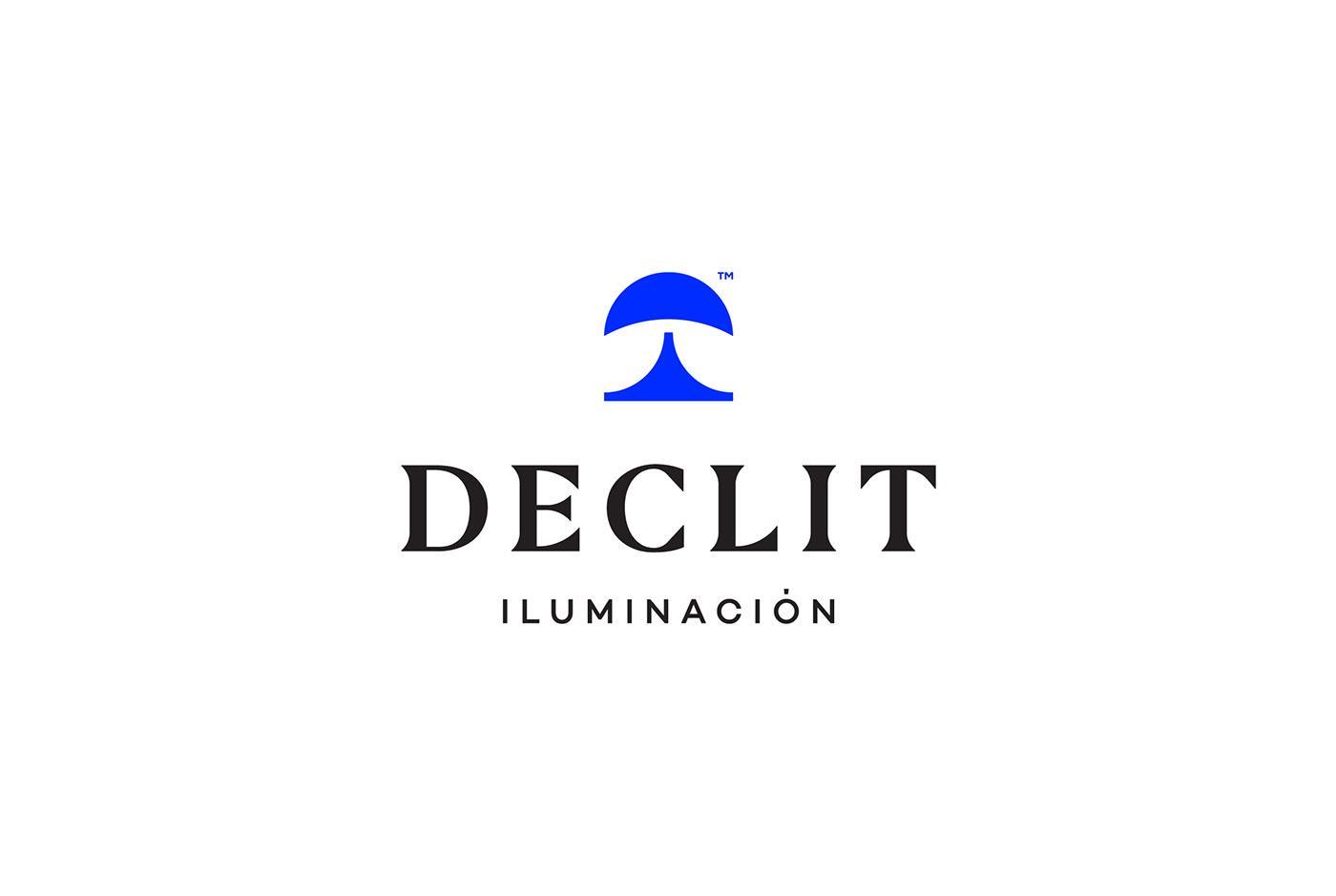 Declit家居灯具品牌标志设计